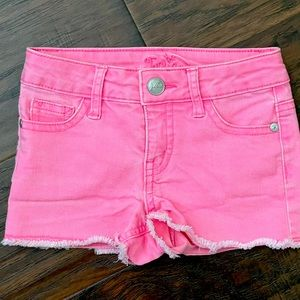 Justice Girls Pink Denim Jean Shorts Size 8